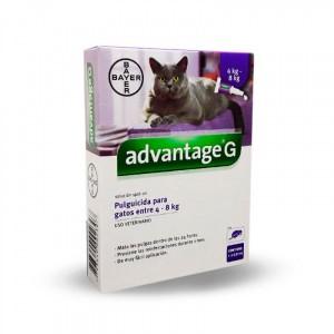 ADVANTAGE - ANTIPULGAS PARA GATOS  4-8 KG 0.8 ML